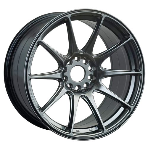 XR527-1887-2CB2 / XXR 527  18 X 8.75 - ET35 - 5 X 114.3 + 100 PCD  - BLACK CHROME