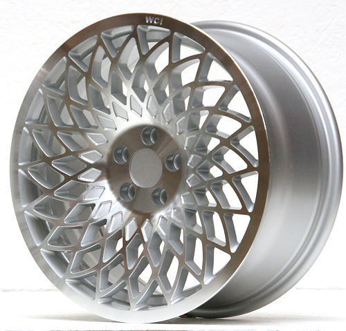 UL25-1775-1SML / REPLICA MT10  WHEEL - 17x7.5 INCH - ET35 - 100x5 PCD - SILVER MACHINE FACE - LH
