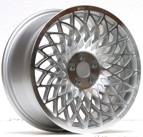 UL25-1775-1SMR / REPLICA MT10  WHEEL - 17x7.5 INCH - ET35 - 100x5 PCD - SILVER MACHINE FACE - RH